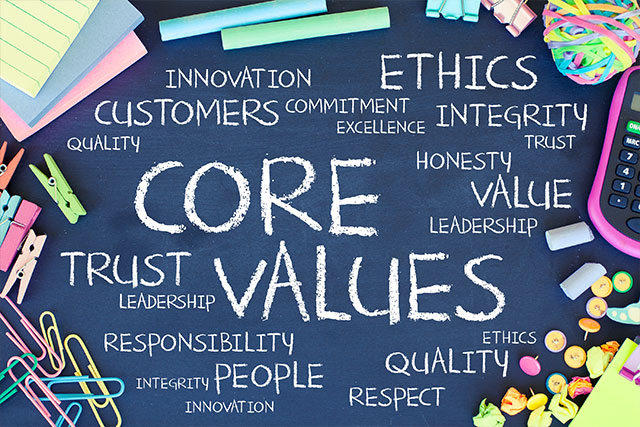Values, ethics hotline, business, responsibility, trust