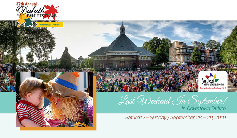 Duluth Fall Festival website banner