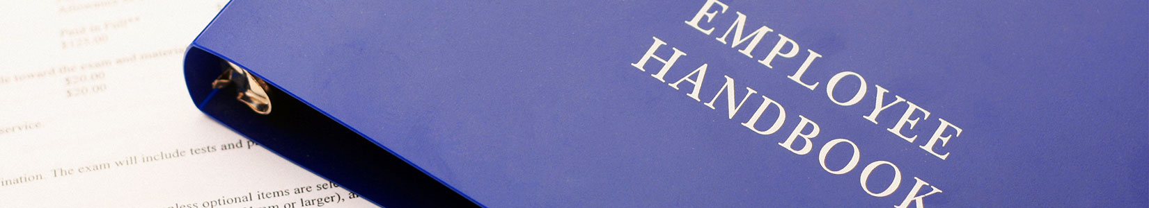 HR Employee Handbook and paperwork for the newly hired