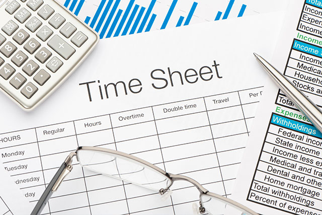 Employee Payroll Time Sheet HR