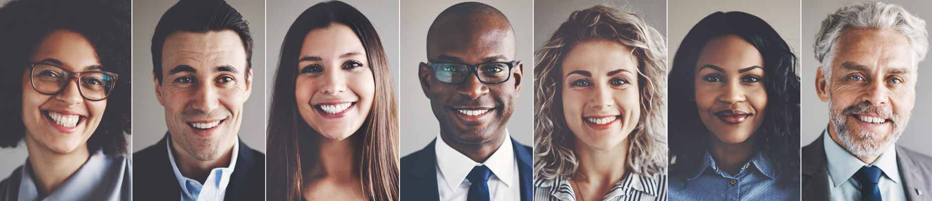HR consulting success testimonials showing 7 happy people