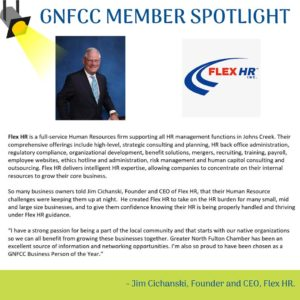 GNFCC member spotlight Jim Cichanski of Flex HR Atlanta & Johns Creek